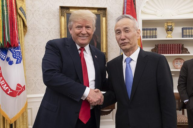 US President Donald Trump and Chinese Vice Premier Liu He