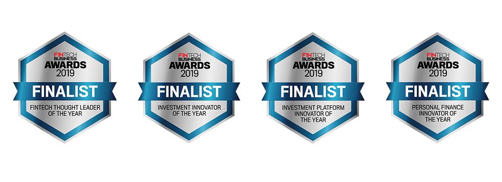Fintech Business Awards Finalist Seals