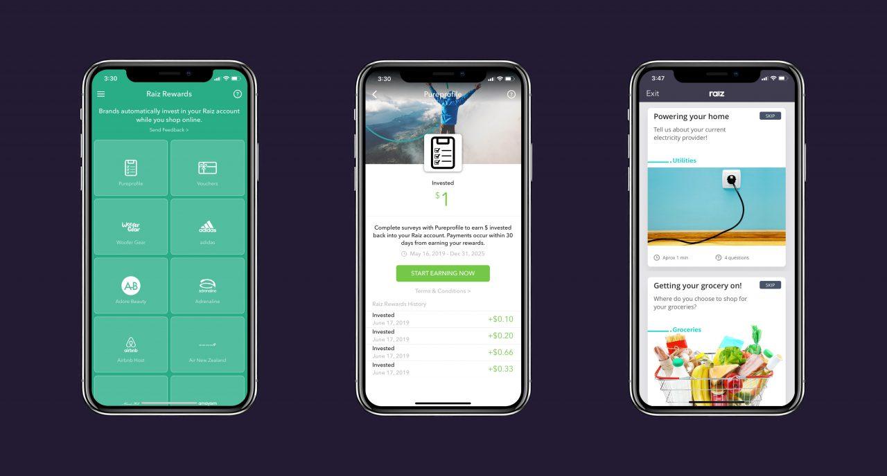 Pureprofile in the Raiz app